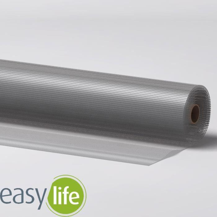 easy life Rouleau tissu moustiquaire en aluminium 120 x 100 cm - Protection contre les insectes stable, robuste et raccourcissable