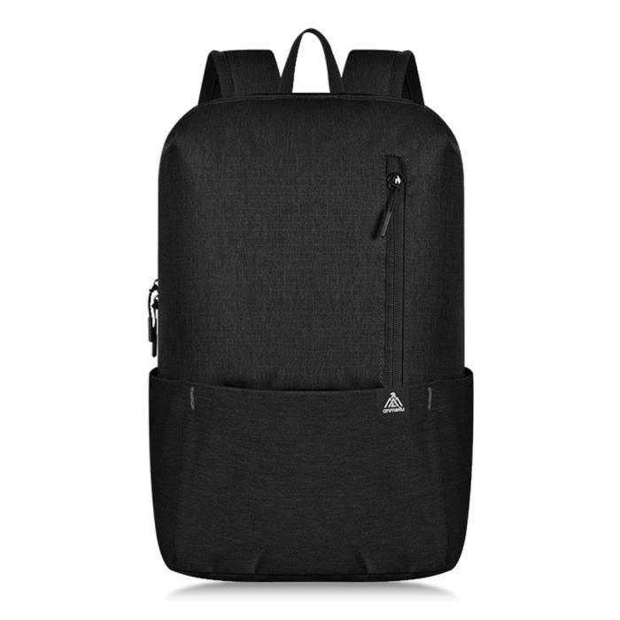 10L camping en plein air super léger randonnée sac à bandoulière sortie sac à dos résistant à l'eau Noir