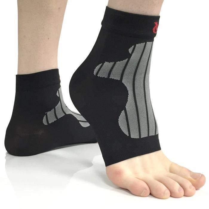 VeloChampion chaussettes de compression et de soutien cheville et pied (paire) pour fasciite plantaire, Ankle Supports