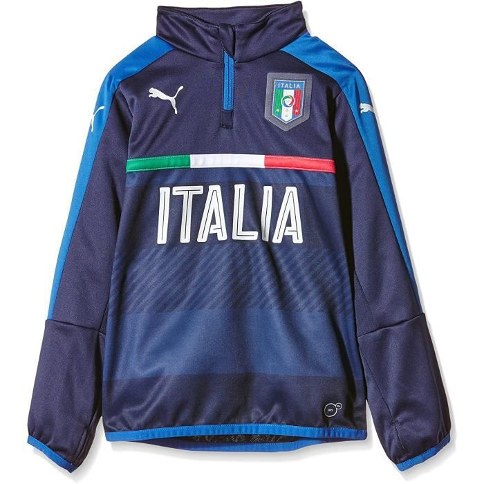 Sweat Football Italie Training Sweatshirt Enfant Puma Bleu Foncé