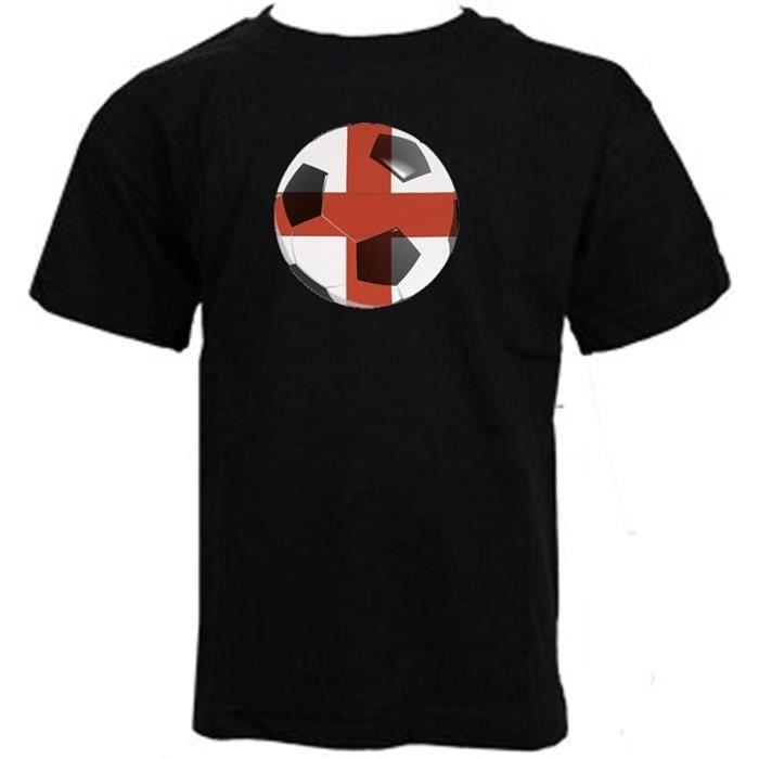 Enfants - Alternative Coupe Du Monde Angleterre Supporteurs Football Angleterre Filles T-Shirt (5-6, Noir)
