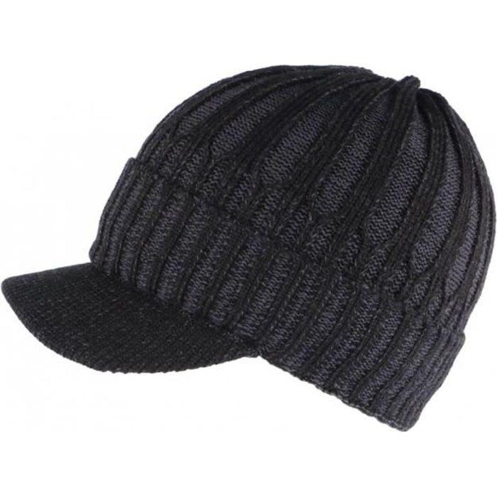 Bonnet Casquette noir doublure polaire Nafyx Nyls Création - Taille unique - Noir