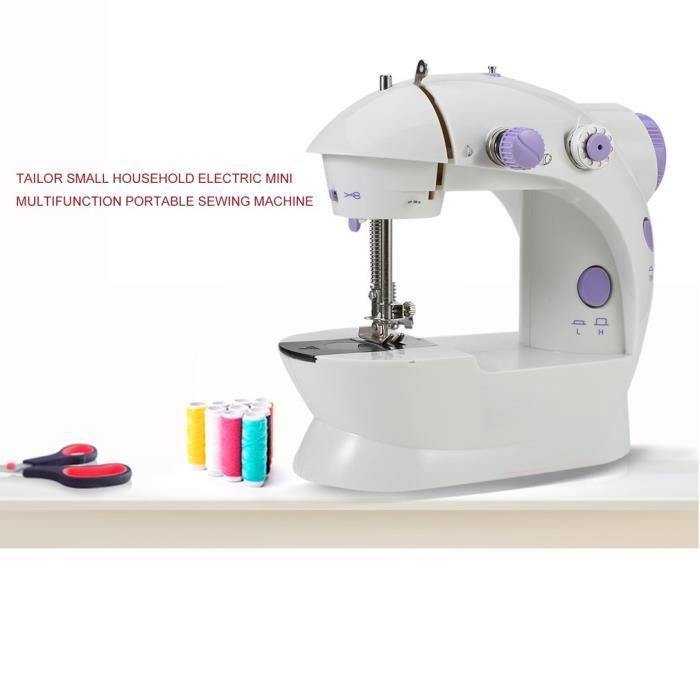 Mini Machine à Coudre Couture Double Fil Doubel Vitesse Portable Multifonction Ménage Réglable Automatique