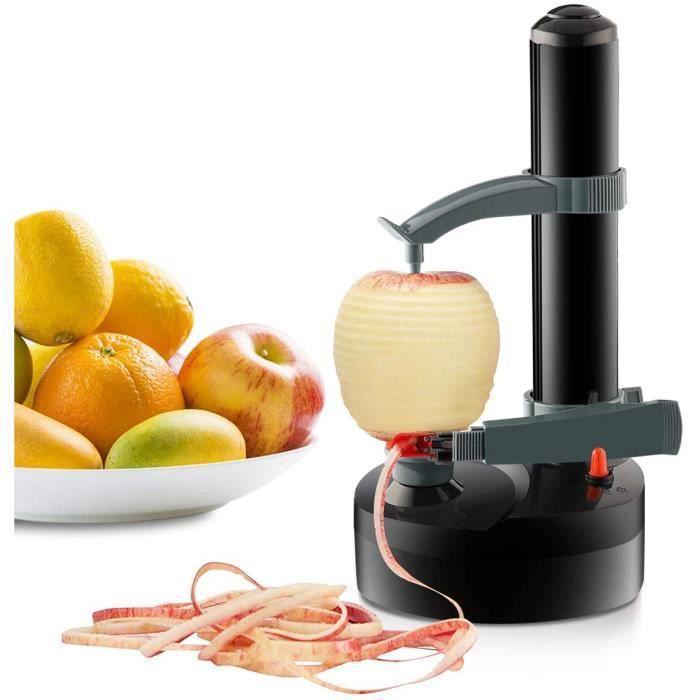 Éplucheur électrique de pomme de terre Rotation automatique Machine à éplucher la cuisine pour les fruits (Noir)