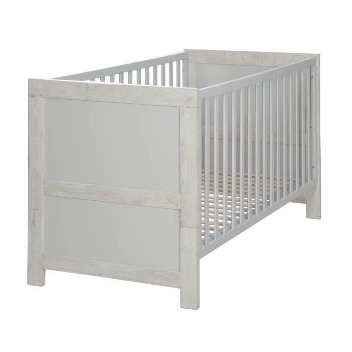 Lit bébé évolutif en bois et réglable en hauteur Mila - 70x140