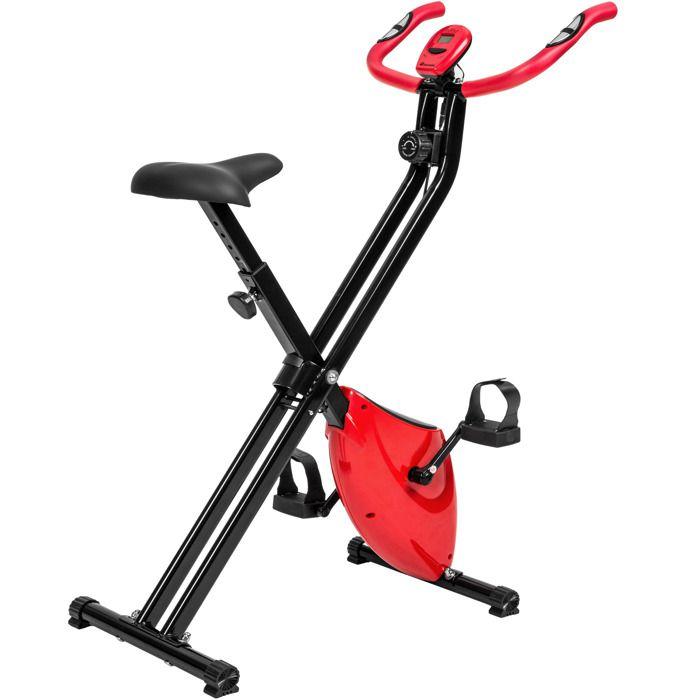 TECTAKE Vélo d'appartement pliable avec ordinateur LCD pour fitness et cardio