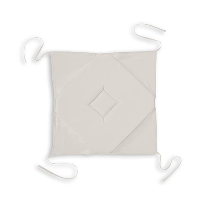 Galette à rabats polyester FAMILY 40x40 Ivoire