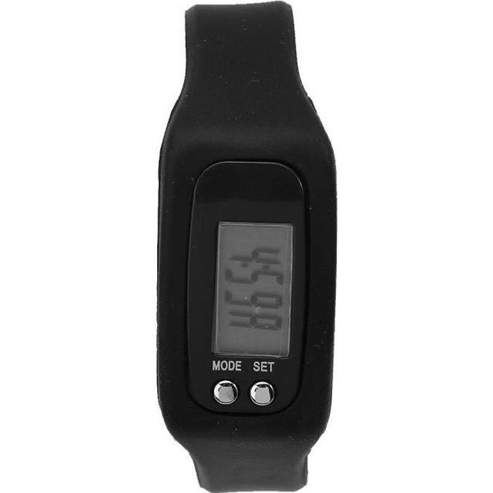 VINGVO tracker fitness Bracelet intelligent montre bracelet compteur de calories podomètre sport fitness (noir)