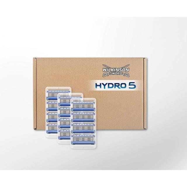 Wilkinson Sword Hydro 5 Lot de 12 tête de rasoir, lame de rasoir vendu seule pour les hommes