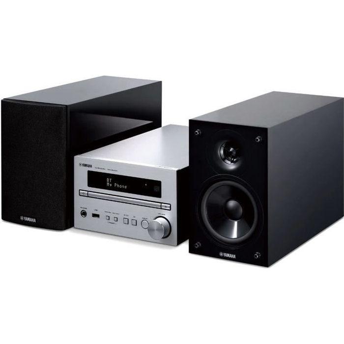 YAMAHA MCR-B370D Silver - Mini-chaîne 40 Watts - Lecteur CD/MP3 - Bluetooth 4.2- Tuner FM/DAB+ - Port USB - Entrée AUX