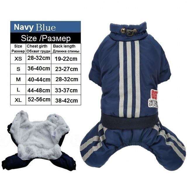 Stripe Blue-XS -Combinaison pour animaux de compagnie,pour chien,Style britannique chaud,Chihuahua,ovules de Bulldog,manteau en