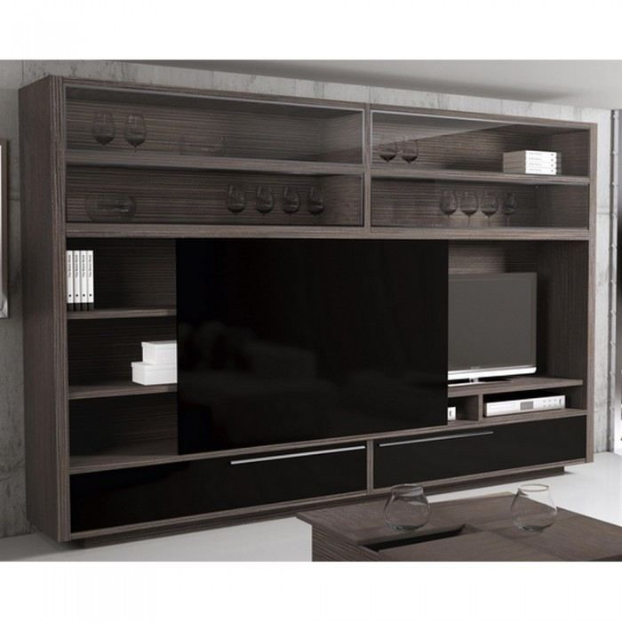 meuble tv haut porte coulissante. Black Bedroom Furniture Sets. Home Design Ideas