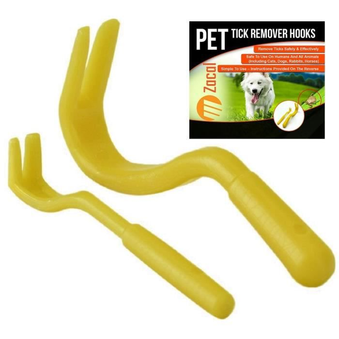 Tick Remover Removal Hook Tool; Remove Ticks On Dogs Cats, All Other Animals As Mbiui