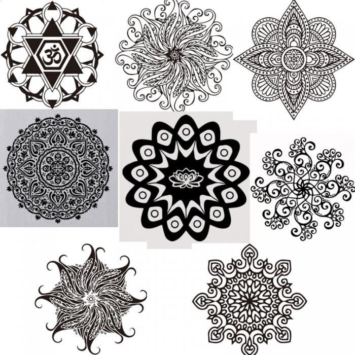 Bouddhiste art stickers muraux inde mandala autocollants for Mural mandala