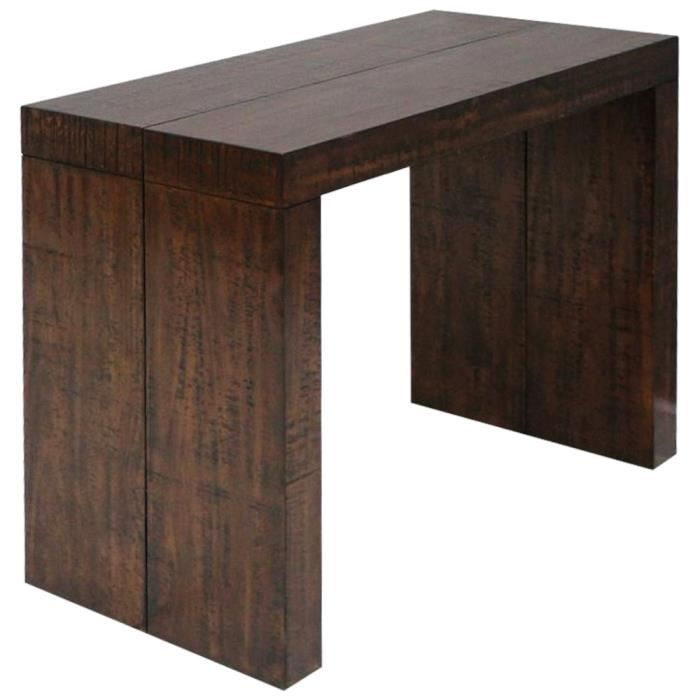 bois massif table console extensible 3 rallonges rustique. Black Bedroom Furniture Sets. Home Design Ideas