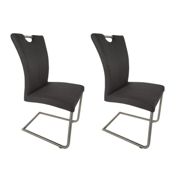 gris anthracite chaises – aspect design haute Collection Salle manger Sandra à 2 qualité daim yb7fvY6g