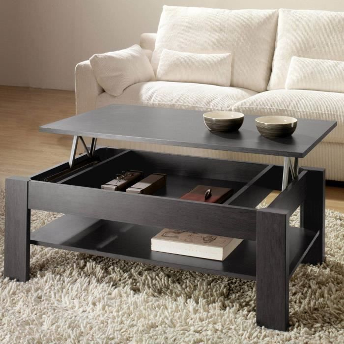 table basse relevable oralia cendre dimensions achat vente table basse table basse. Black Bedroom Furniture Sets. Home Design Ideas