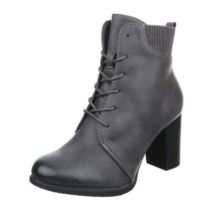 femme bottine chaussure Stretch Brogues Boots