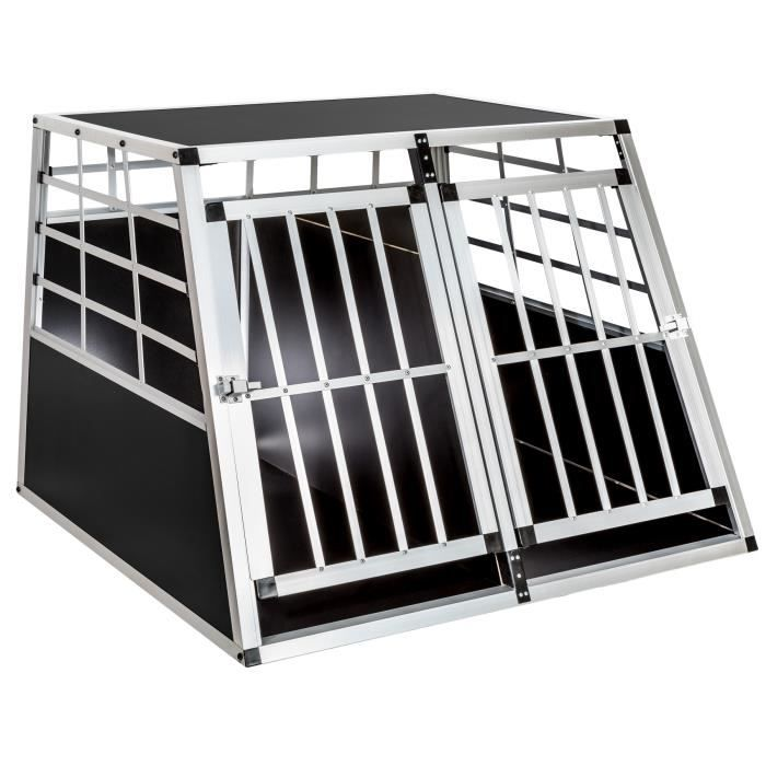 cage caisse box de transport double pour chien en. Black Bedroom Furniture Sets. Home Design Ideas
