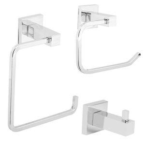 Set accessoires salle de bain chrome