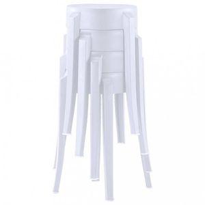 TABOURET DE BAR Tabourets et chaises de bar  4 pcs Tabourets empil