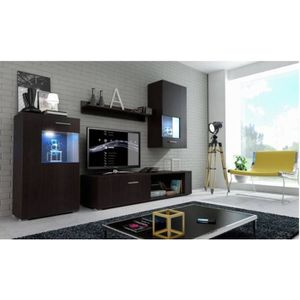 meuble salon wenge achat vente meuble salon wenge pas cher cdiscount. Black Bedroom Furniture Sets. Home Design Ideas