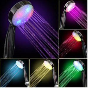 DOUCHETTE - FLEXIBLE 7 LED de couleur pomme de douche Lumières romantiq