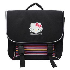 CARTABLE Cartable Hello Kitty noir 41 cm. Adapté du CP au C