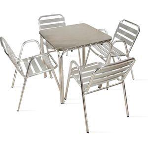Ensemble table et chaise de jardin Table et chaises de jardin - Table carrée jardin t