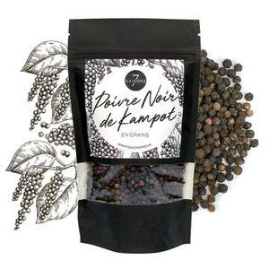 POIVRE Poivre Noir de Kampot - Sac Kraft de 95 gr - Epice