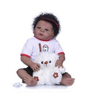 Full Vinyl 20 Reborn Poupée bébé fille afro-américaine café peau noire | eBay