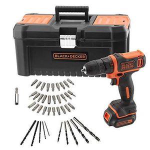 600 trs//min 37 Nm 18 V 2 x 2,5 Ah 2 batteries Livr/ée en coffret Black+Decker BCD001E2K-QW Perceuse-Visseuse sans fil