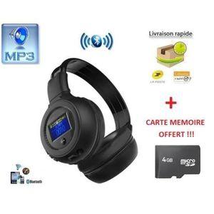 CASQUE - ÉCOUTEURS B570 Casque Bluetooth Monté sur la tête Carte Ecou