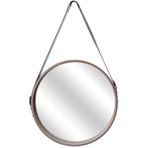 MIROIR THE HOME DECO FACTORY Miroir rond avec anse en boi