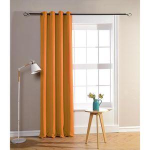 RIDEAU Rideau occultant et obscurcissant orange 140 x 260