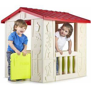 MAISONNETTE EXTÉRIEURE Cabane en plastique pour jardin d'enfants HAPPY HO