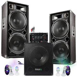 PACK SONO PACK SONO MIXAGE DJ 4800W avec 1 CAISSON + 2 ENCEN