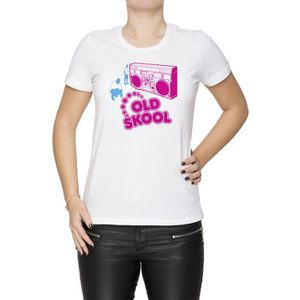 T-SHIRT Tee-shirt - Old Skool Femme Cou D'équipage Blanc M