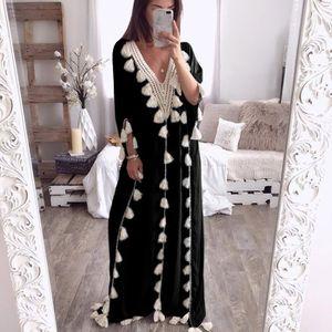 ROBE Robe longue Femmes Bohême Robe longue style ethniq