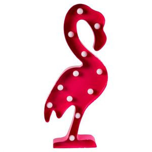 LAMPE A POSER Panneau Lumineux LED Flamand Rose