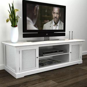 MEUBLE TV Meuble de TV Bois Blanc