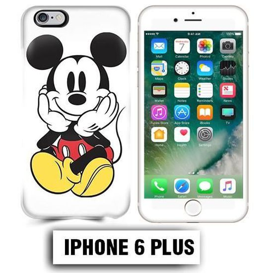 Coque iphone 6 PLUS Mickey Mouse couleur