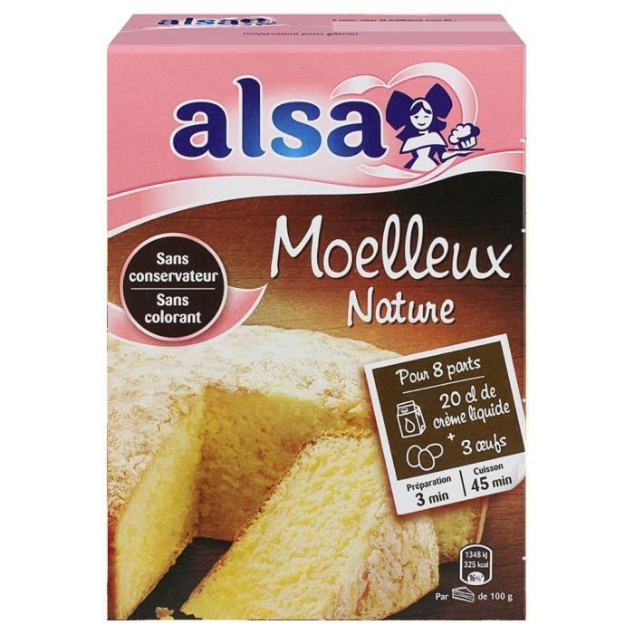 Alsa Préparation Gâteau Moelleux Nature (lot de 3)