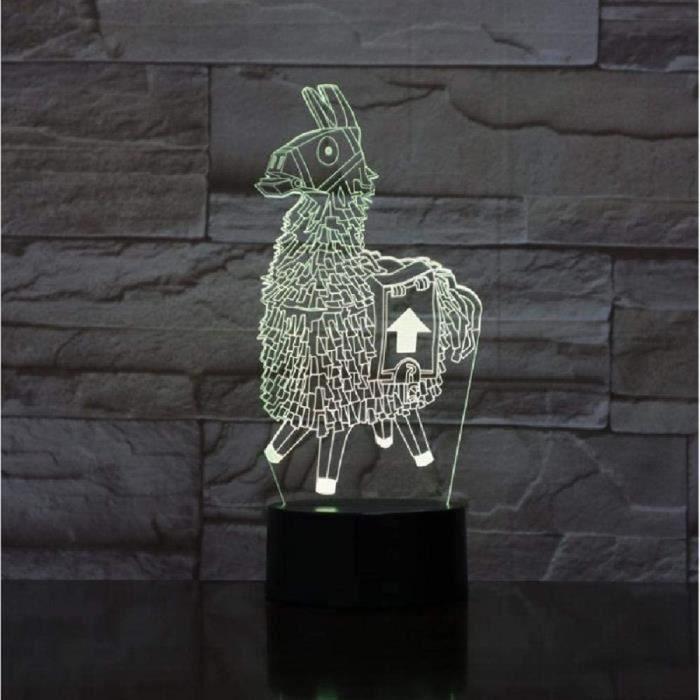 Lampe 3D Alpaga Lama Luz De Noche Lampe D'Ambiance 16 Changement De Couleur Lumière Cadeaux D'Anniversaire Jouets Enfants DH2131