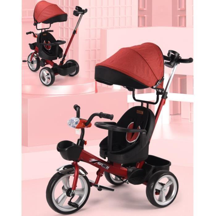 Tricycle pour enfants vélo 1-6 ans 2 vélos poussette bébé poussette bébé poussette enfant