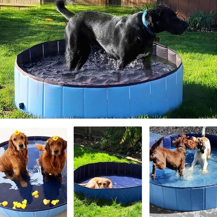 Articles de natation Pliable Chien Piscine Pet Baignoire Baignoire Piscine Baignoire PVC Nettoyant Baignoire pour Chiens Chat