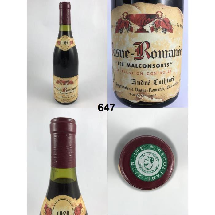 Vosne-Romanée - Les Malconsorts - Cathiard 1989, Vosne-Romanée, Rouge