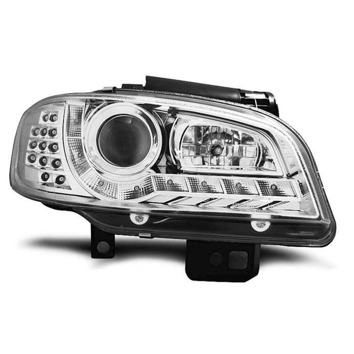 Paire de feux phares Seat Ibiza / Cordoba 99-02 Daylight led chrome