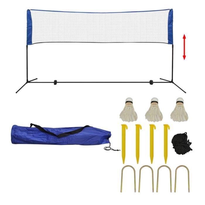 Filet de badminton Pliable, Facile à Monter, Facile à Transporter avec volants 300 x 155 cm