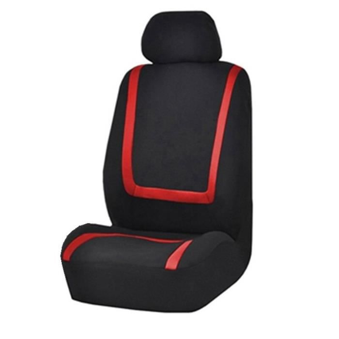 QUEES – housses de Protection universelles pour sièges de voiture, 2-4-9 pièces, en tissu, pour Salon, 2pcs red